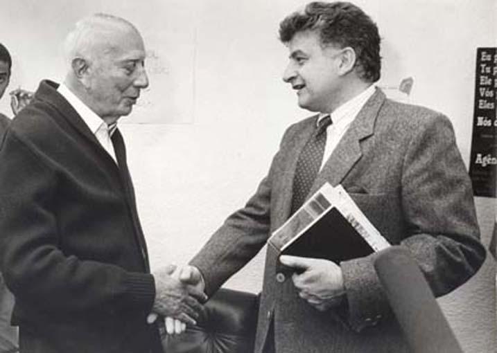 44º Reunião Anual SBPC, realizada na USP em 1992, São Paulo (SP)- Ulisses Guimarães e Ennio Candotti.