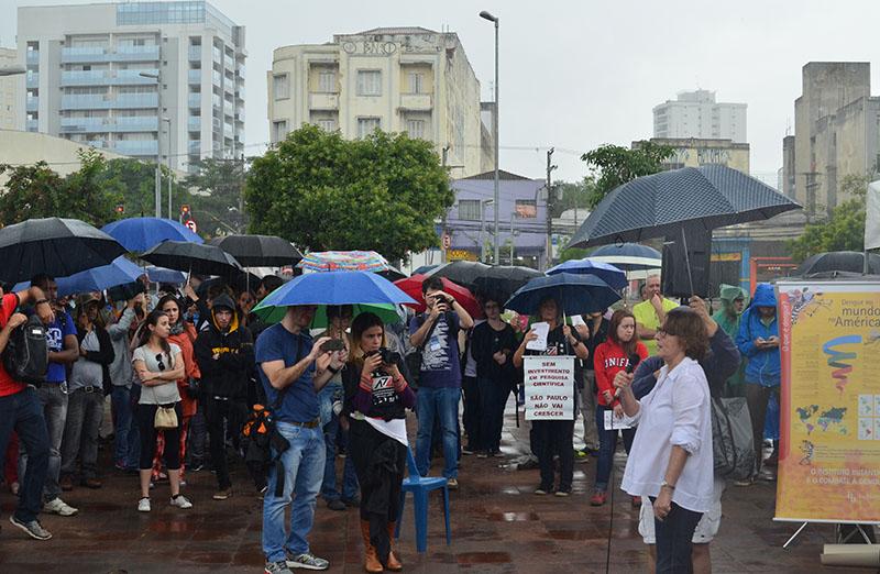 Helena Nader, presidente da SBPC, participou da Marcha Pela Ciência, em São Paulo, em 22 de abril. (Foto: Divulgação)