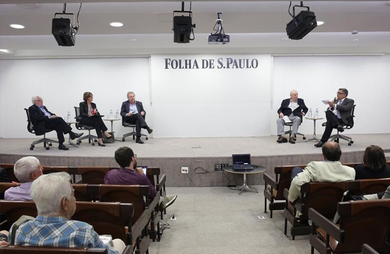 Presidente da SBPC, Helena Nader, participou de debate sobre a política de ciência e inovação no Brasil, promovido pelo jornal da Folha de São Paulo, em 29 de março de 2017. Foto: FolhaPress/Divulgação