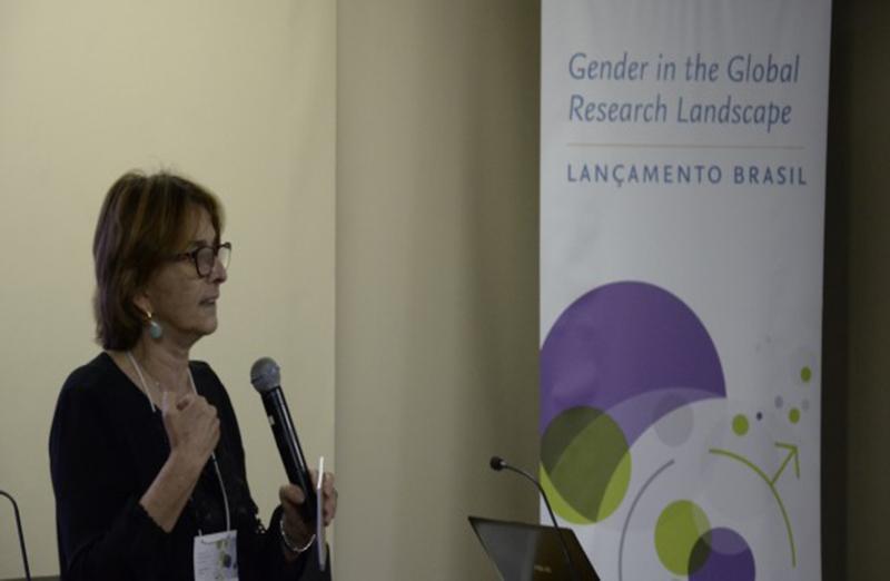 """Helena Nader, presidente da SBPC, participou do lançamento do relatório """"Gender in the Global Research Landscape"""", no Rio de Janeiro, em 22 de junho. (Foto: Juliana Salles/ABC)"""