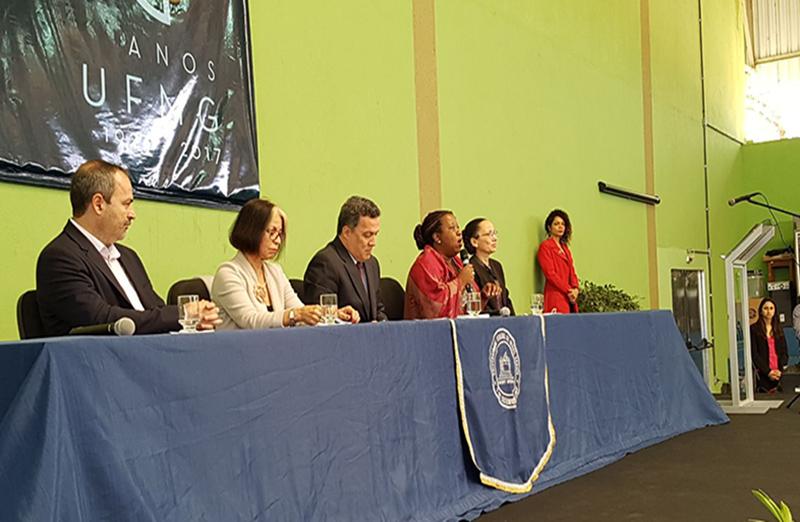 Vice-presidente da SBPC, Vanderlan Bolzani, participou da cerimônia de abertura da SBPC Educação, em 06 de julho, no campus Montes Claros da UFMG. (Foto: Marcílio Lana/UFMG)