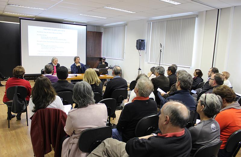Diretoria da SBPC se reúne com representantes das Sociedades Associadas na sede da entidade em 22 de agosto.