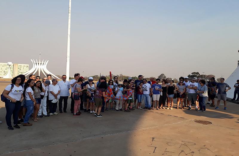Em Brasília, a Marcha foi convocada pela Secretaria Regional da SBPC no Distrito Federal, em frente ao Museu Nacional da República. (Foto: Divulgação)