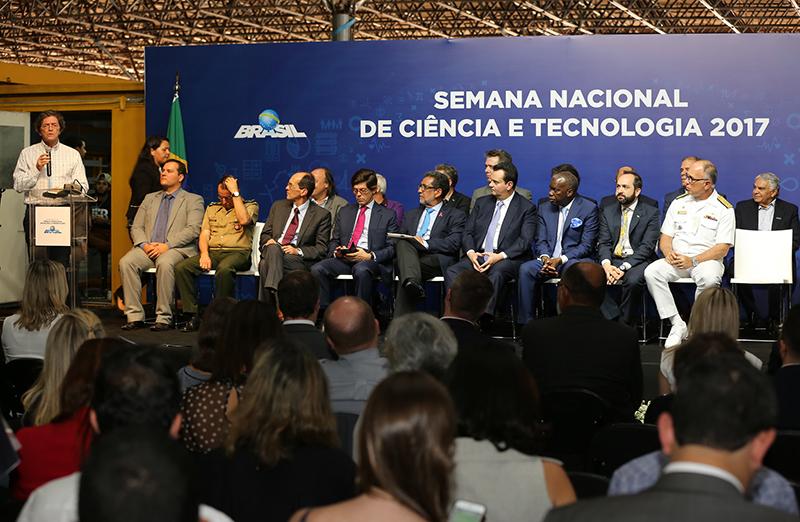 Presidente da SBPC, Ildeu Moreira, participou da abertura da 14ª Semana Nacional de C&T, em Brasília, em 23 de outubro. (Foto: MCTIC)