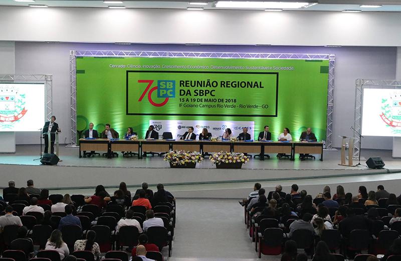Autoridades destacam atuação da SBPC em cerimônia de abertura da Reunião Regional em Rio Verde