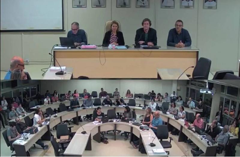 Presidente da SBPC participa da sessão do Conselho Universitário da Ufal, em 04 de junho. Ildeu de Castro Moreira falou dos preparativos para a 70ª Reunião Anual da SBPC