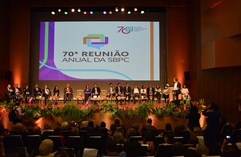 Abertura da 70ª Reunião Anual da SBPC destaca o compromisso social dos pesquisadores brasileiros