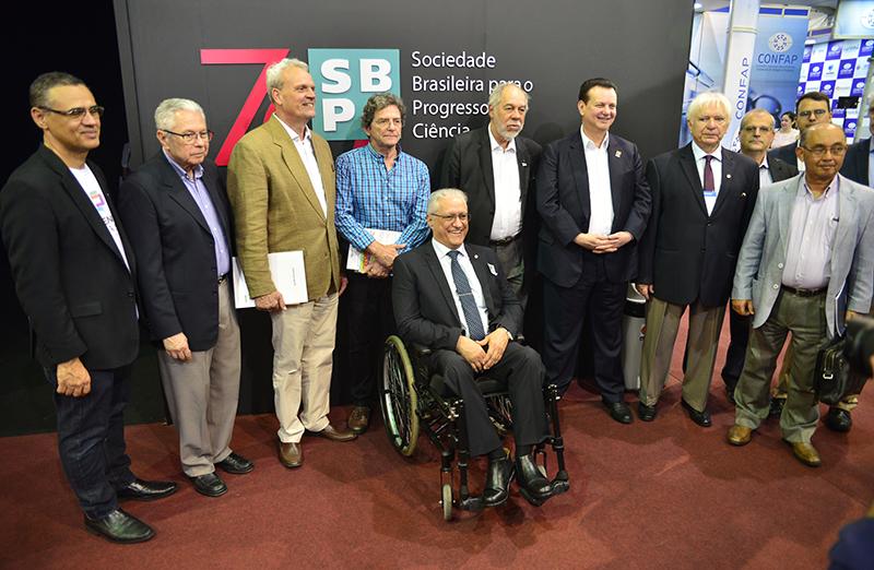 Autoridades prestigiam abertura da ExpoT&C e da Mostra Virtual Interativa dos 70 anos da SBPC, durante a 70ª Reunião Anual