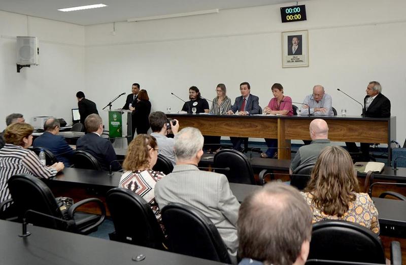 Audiência pública debate o setor de CT&I em Goiás durante o XII Fórum SBPC/GO de CT&I do Cerrado. (Foto: Alego)