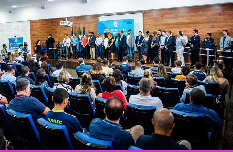 Com auditório lotado, 71ª Reunião Anual da SBPC é lançada na UFMS, em 13 de fevereiro, em Campo Grande. (Foto: UFMS)