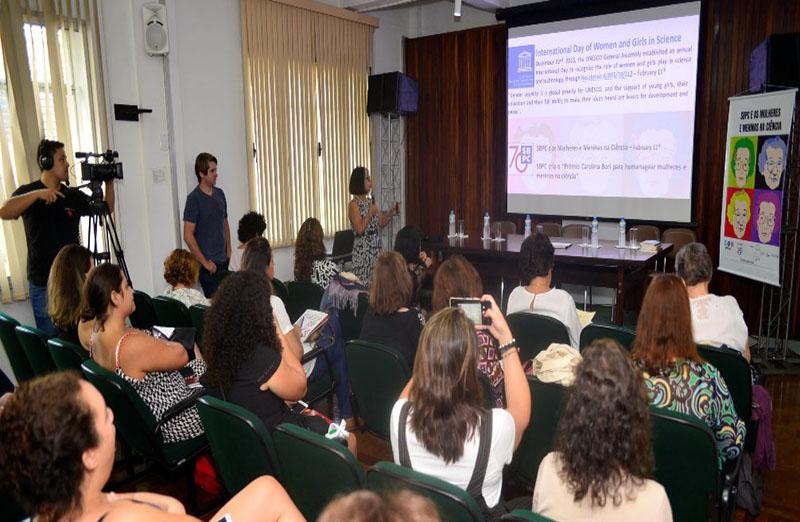 """SBPC comemora """"Dia de Mulheres e Meninas na Ciência"""" com seminário, realizado no dia 11 de fevereiro, em São Paulo."""
