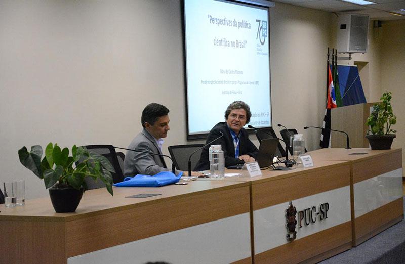 Presidente da SBPC, lldeu Moreira, proferiu Aula Inaugural da pós-graduação da PUC-SP em 12 de março. O tema do encontro foi Perspectivas da Política Científica no Brasil