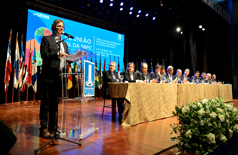 Cerimônia de abertura da 71a Reunião Anual da SBPC tem festa folclórica e discursos críticos. Foto: Jardel Rodrigues/SBPC