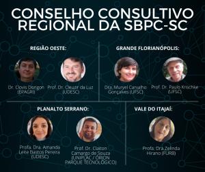 equipe-do-conselho-consultivo-regional-da-sbpc-sc