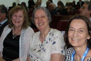Da esquerda para direita: Regina P. Markus, Lucile Winter e Glaucia Maria Machado Santelli