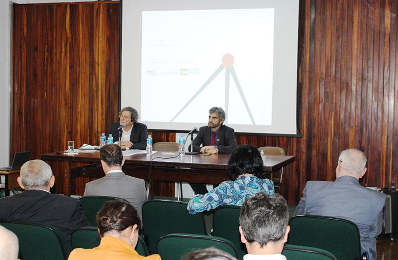 Dirigentes do CNPq, Capes e Finep participaram do Fórum das Sociedades Científicas Afiliadas à SBPC, realizado na quarta-feira, 11 de março, e discutiram as estratégias e planos para o ano de 2020. André Godoy, diretor de Administração da Finep. (foto: SBPC)