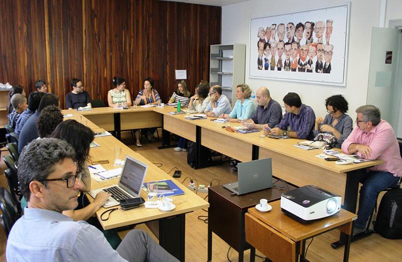 SBPC reúne sociedades científicas afiliadas para discutir estratégias de comunicação.  O encontro foi realizado nessa terça-feira, 10 de março, na sede da entidade, e reuniu cerca de 20 sociedades. (Foto: SBPC)