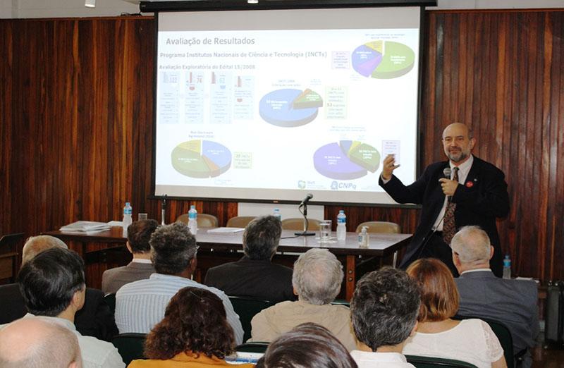 Dirigentes do CNPq, Capes e Finep participaram do Fórum das Sociedades Científicas Afiliadas à SBPC, realizado na quarta-feira, 11 de março, e discutiram as estratégias e planos para o ano de 2020. João Luiz Filgueiras de Azevedo, presidente do CNPq. (foto: SBPC)