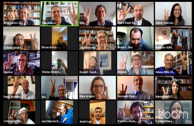 Em sessão online realizada no dia 29 de maio, entidades de diversos setores da sociedade civil convidaram a sociedade brasileira para a Marcha pela Vida, em defesa de valores fundamentais: a vida, a saúde e o SUS, a ciência, a solidariedade, a preservação do meio ambiente e a democracia.