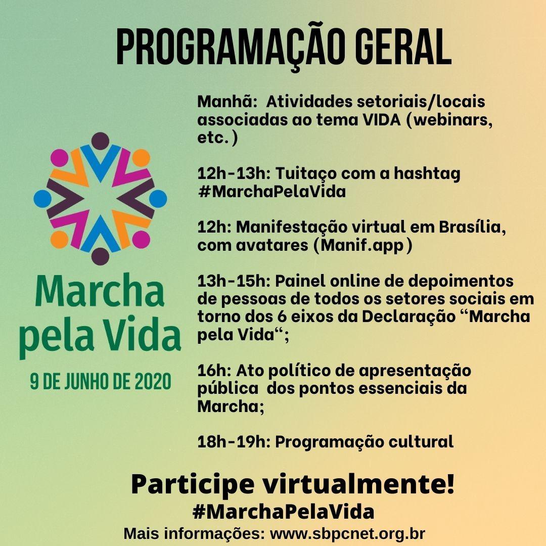 Programação da Marcha Pela Vida