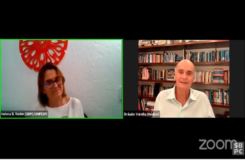 """O médico oncologista Drauzio Varella apresentou, em 13 de julho, a conferência """"A pandemia, a saúde dos brasileiros e o SUS"""", no primeiro dia de programação científica da Mini Reunião Anual Virtual da SBPC"""
