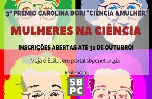 "Prêmio Carolina Bori ""Ciência & Mulher"""